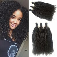 afro bulk hair - Afro Kinky Curly Hair Bulk For Braiding Brazilian Human Hair Afro Kinky Curly Hair Bulk For Black Women
