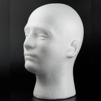 Wholesale Balaclava Mask Cap Male Styrofoam Foam Mannequin Manikin Head Model Display Stand Wig Glasses Hat IS