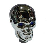 Wholesale 1PC Universal Fashionable Aluminium Alloy Gear Shift Knob LED Light Skull Shifter Knob