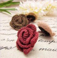 ah hair - New winter wool flowers ah hair rope hair ring Japanese and Korean fashion headdress hair accessories mixed batch