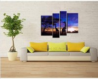 african artist painting - African Dawn Professional Artist Handmade High Quality Modern Abstract Landscape Oil Painting On Canvas Giraffe Oil Painting