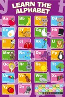 abc life - A250 My ABC Alphabet Learn table Art Silk Poster x36inch