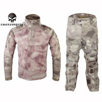 Wholesale Emerson Tactical Military Uniform All Weather Tactical Suit amp Pants Airsoft Paintball Clothing Outdoor Hunting Set EM6894AS