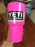 Wholesale Pink oz Yeti Rambler Coolers Tumbler Stainless Steel Cup