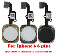 Wholesale High Quality For iPhone plus inch Complete Home Button Flex Ribbon Cable Touch ID Sensor Replacement Part