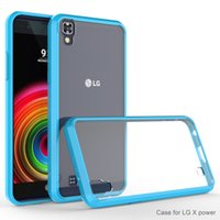 Para LG X Power Volt 3 K210 K6 K6P Boost móvil cubierta ultra-delgada invisible tpu + pC acrílico cristal de la cáscara establece manga protectora de teléfono celular
