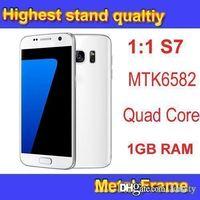 Wholesale S7 EDGE MTK6582 Quad Core GB RAM GB ROM SmartPhone Show GB GB Real G WCDMA MHz DHL Free