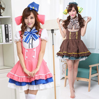 Wholesale Halloween love live lolita cosplay Adult princess Dress women party cosplay sexy adult pink grey print