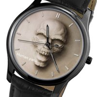 band of skulls - Creative waterproof watches with the pattern of skull cool men leather band watches personality women watches Authentic customization