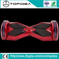Wholesale 8inch two wheel W motor mah Grade A battery led lights hoverboard with key remote bluetooth smart balance scooter