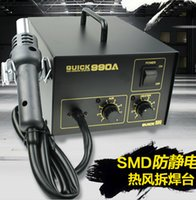 antistatic air gun - QUICK crack A antistatic Power W SMD rework station with hot air gun Controllable air volume