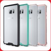 apple green accessories - Samsung Galaxy Note Case Transparent Clear Hybrid Bumper Shockproof Cover Skin Phone Accessories For Samsung Note S7 S7edge