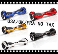 Wholesale HOT inch Hoverbaord NO TAX UK USA FR SW Electric self balancing Scooter Bluetooth key Bag for Adult Kids skateboard wheels UL2272