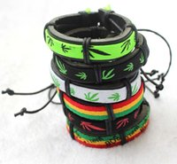 arrival bobs - New arrival Mixed Jamaican Reggae Bracelet Bob Marley Maple Leaf Style Fashion Bangle Hip Hop Rasta Accessories