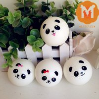 Wholesale New Mini Panda Bun Ball Squshy Phone Charm Slow Rising