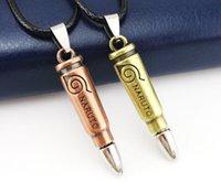 al por mayor collar de uzumaki naruto-Uzumaki Naruto bala hueco colgante de plata con la cuerda plateada