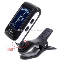 Wholesale LCD Clip on Electronic Digital Guitar Chromatic Bass Violin Ukulele Tuner F00300 FADH