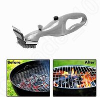 bbq grills accessories - Barbecue Cleaning Brush Stainless Steel BBQ Outdoor Grill Daddy Steam Cleaner with the power of steam Cooking Tool Accessories OOA204