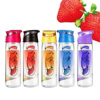 Wholesale 700ml plastic cup fruit cup AS outdoor sports bottle cup lemon juice cup creative one generation
