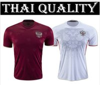 Wholesale 3A best quality Russia jerseys home red jersey Russia football jersey