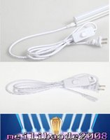 Wholesale LED tube lights ft cables connector for Integrated T8 T5 led tubes with sitch and power line plug three hole high quality MYY