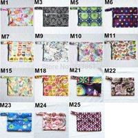 bib bags - pack Mini Small Wet Bags for Mama Cloth Menstrual Pads Tampon Cup Baby Bib Waterproof Reusable Designs quot X5 quot