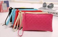 Wholesale HOTHigh Quality PU Leather Wallet Coin Purse Clutch Designer Luxury women s clutches women evening bags mix colours