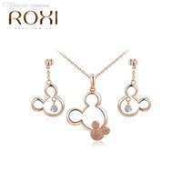best mouse brand - ROXI Brands fashion women mouse jewelry set Austrian crystal Nickeless jewelry set best Christmas gifts