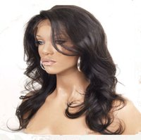 Wholesale Top quality brazilian glueless front lace wig full lace wig human hair black woman