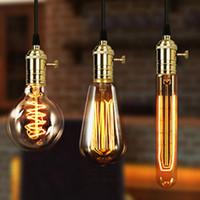 Wholesale YouOKLight E27 E26 Light Socket Vintage Edison Pendant lamp holder With Knob antibrass black chrome copper Red Bronze Rose Gold color
