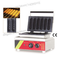 Wholesale Commercial non stick muffin hot dog waffle machine lolly muffin hotdog waffle maker stainless steel for hotdog waffle making