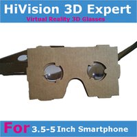 Wholesale ccessories Parts D Glasses Best Quality Headset VR whole piece Newest DIY Google Cardboard Virtual Reality glasses for smartp