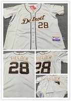 Wholesale On Sale Men s MLB Jersey Detroit Tigers Jerseys Prince Fielder Gray Color Top Quality Embroidery Name and Logo Baseball Jersey