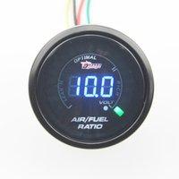 Wholesale mm Car Digital LED Air Fuel Ratio Gauge Auto Gauge with volt gauge