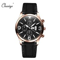 auto manufacturers china - CHAXIGO Brand China Manufacturers Watch Men Mens Sports Wrist Watches Army Military Watch With Leather Strap Made In China