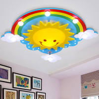 Wholesale Creative children s room bedroom ceiling lamp with a warm light eye led boys and girls cartoon smiling face sky ceiling light