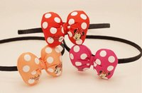 Hair Sticks Cotton Animal Cute cartoon Minnie Mickey Hair Bands Jewelry baby Girls Bow Headbands Cheapest Hair Bands Headwear lady hair accessory party supplies orang