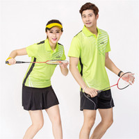 Wholesale NEW Summer Badminton Sports Wicking Breathable Quick Dry Shirts Clothing Unisex t shirt Table Tennis Clothes Suit Shirt Shorts