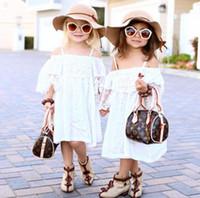 american made linens - 2016 Flower Girls Dresses For Weddings Jewel Sleeveless Cute Lace Knee Length Princess Style Custom Made Flower Girls Dresses