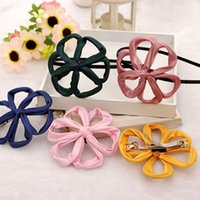 Wholesale Hot Sale Korean Ribbon Hollow Out Multicolor Elegant Flower Hair Band Headband for Girls Accessories Headwear