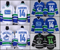 alex burrow - Vancouver Canucks Mens Jerseys Alex Burrows Blue Ice Hockey Jerseys Embroidery Logo Can Mix Order Size M XXXL