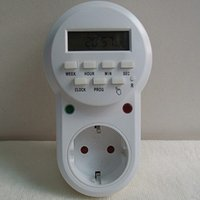 Wholesale High quality v V Smart Power plug in switch socket digital timer converter Energy saving programmable timers temporizador EU Plug