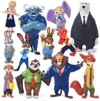 Wholesale Licy Jenny Art toy Zootopia Cartoon Utopia Action Figure Movie Pvc Mini Models cm Nick Fox Judy Rabbit Dolls etc