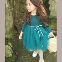 Wholesale 2016 Girls Lace Dress Girls Autumn dresses Girls fashion Nmd Kids dresses for girls Baby clothes Baby Kids clothes FY