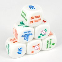 adult drinking - 6PC Different Funny Sex Adult Games Glow In The Dark Dice Couple Housework Decider Party Drinking Toys
