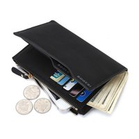 Wholesale 2017 Hot Fashion Men Wallets Wallet ID Card Holder Coin Purse Pockets Clutch with Zipper Men Wallet With Coin Bag Gift W013