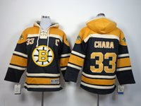 Wholesale Hockey hoodie Boston Bruins Youth Size Bobby Orr Milan Lucic Zdeno Chara Patrice Bergeron new hoodie name number Stitched