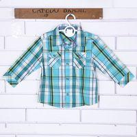 batik tee - 2016 new arrivel Children Boys Long Sleeve Plaid T shirts Tops Tees Cotton shirts Kids T shirt Green blue Grid shirt M years
