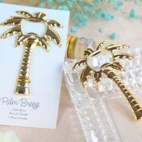 Wholesale Wedding Favors Palm Breeze Gold Bottle Opener Party Favors Golden Palm Tree Openers Party Favors