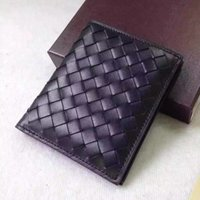 bi fold leather wallets - 2016 New Fashion Men s Wallets Casual Genuine Leather Famous Brand Knitting Short Wallet Men Purses Credit Card Holder Bi Fold Thin Purses